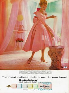 Don't see colored bathroom tissue much anymore...