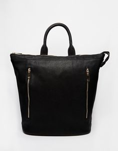 ASOS Zip Top With Side Zip Detail Backpack