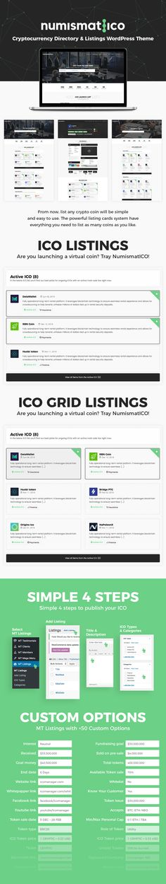 Buy Numismatico - Cryptocurrency Directory & Listings WordPress Theme by modeltheme on ThemeForest. Testdrive the Frontend Submissions Username: ico_demo Password: ico_demo Want to create an incredible ICO (Initial C. Video Background, Cryptocurrency, Wordpress Theme, Typography, The Incredibles, Social Media, Templates, Username, Letterpress