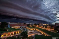 SHELF CLOUD OVER TIMISOARA   Photograph by ERVIN BOER   In this amazing capture by Ervin Boer, we see an intimidating shelf cloud over Timisoara, Romania. The photo was posted to Timisoara's official Facebook page (via my friend Mihai). A shelf cloud is a low, horizontal, wedge-shaped arcus cloud. They are attached to the…