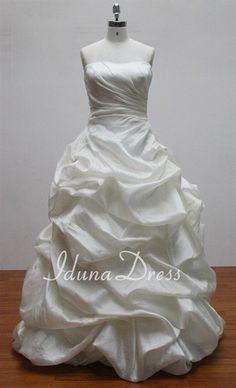 Strapless Ballgown Wedding Dress with Giant Billowy by IdunaDress, $239.00