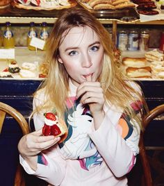 Saoirse Ronan's porcelain skin, perfectly sculpted brows and beautifully textured hair scream cool girl