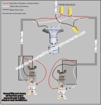 Bathroom Fan With Timer Wiring Diagram Electric House Two Switches Control Lights Diy In 2019 Pinterest Light Power From Between 3 Way Great Saved My Rear