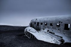 DC plane wreck in south Iceland - as it has become a tourist attraction, this wreck can be explored legally if you visit Iceland. Guide To Iceland, Iceland Road Trip, Tours In Iceland, Iceland Travel, Wow Air, Cities In Europe, Adventure Is Out There, Countries Of The World, Travel