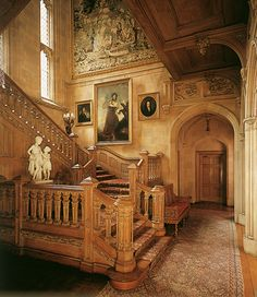 Grand staircase, hall