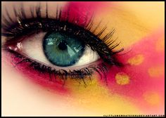 beautiful eye makeup macro photography