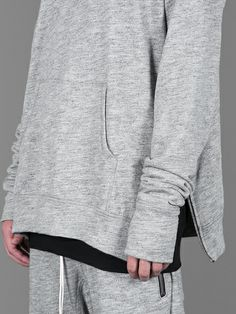 Fear of God crewneck sweater with zipped details at sides #fearofgod #thefeargeneration
