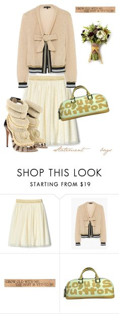 """""""Statement bags"""" by j477 ❤ liked on Polyvore featuring Giuseppe Zanotti, DutchCrafters, Louis Vuitton, contest, polyvorecommunity and statementbags"""