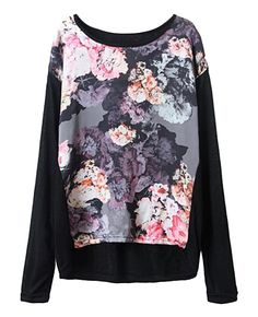Long-sleeves Floral-print Knitwear | BlackFive