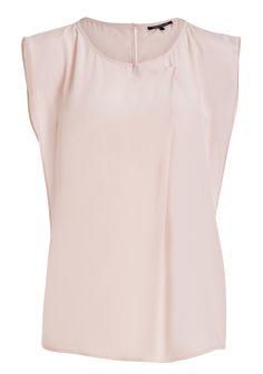 Peach polyester blouse