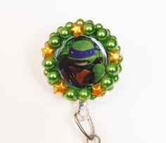 Teenage Mutant Ninja Turtle Donatello ID Badge Reel - Retractable ID Badge Holder - Zipperedheart by ZipperedHeart on Etsy