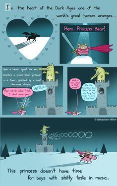 Hero Princess Bear - Sebastien Millon / Art & Illustration