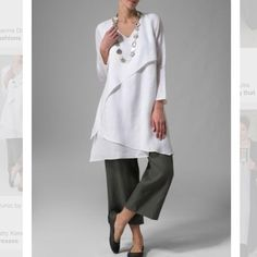 Lovely layered linen outfit. Easy to wear and still look chic