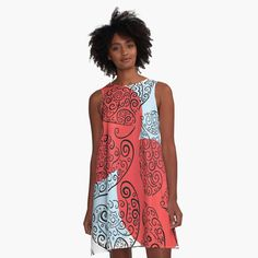 Dress Red, I Dress, Best Leggings, Flourishes, Cute Gifts, Red And White, Summer Dresses, Printed, Hoodies