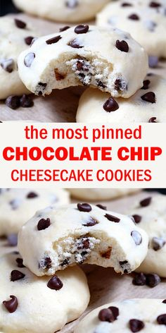 These cookies with cream cheese and mini chocolate chip simply melt in your mouth. Chocolate Chip Cheesecake Cookies are simple, light and delicious, my favorite cookie recipe. Biscuits, Galletas Cookies, Salty Cake, Tandoori, Healthy Dessert Recipes, Eat Healthy, Savoury Cake, Clean Eating Snacks, Donuts