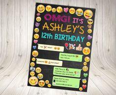 EMOJI Invitation Emoji Birthday Invitation by DecorationsLeon