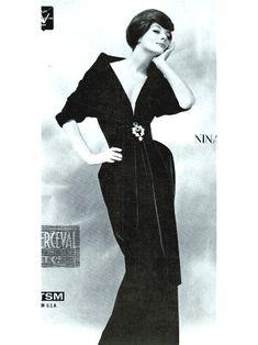 Nina Ricci Black Velvet Gown 1959