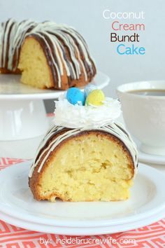 Coconut Cream Bundt Cake - three times the coconut in this cake makes it amazing