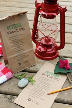 Outdoor scavenger hunt printable - perfect for camping trips and nature walks!  Print it out on a paperbag so the kiddos have somewhere to collect their treasures!