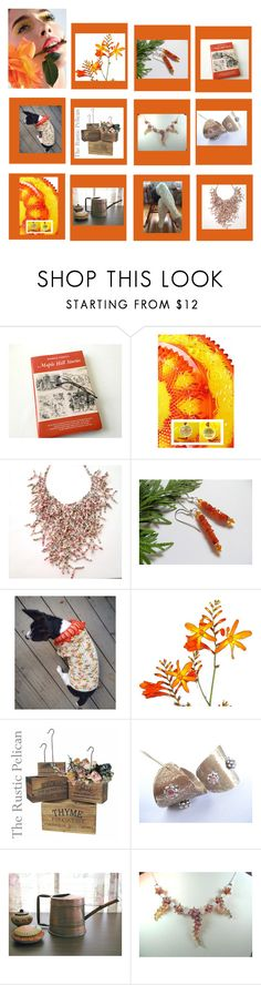 """Tangerine"" by therusticpelican ❤ liked on Polyvore featuring CAVO, modern, contemporary, rustic and vintage"