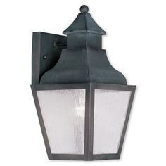 Livex Lighting Vernon 1 Light Outdoor Wall Lantern Finish: Charcoal
