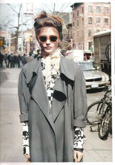 80's, oversized trench