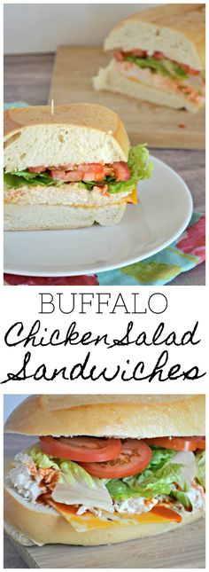 Easy and delicious Buffalo Chicken Salad Sandwiches make the perfect cold sandwich option for summer cookouts! #SargentoAtMeijer #IC #ad