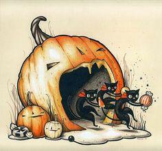 [ Halloween Quotes : Illustration Description Samhain // Hallowe'en // Day of the Dead - Halloween vintage graphic… Retro Halloween, Halloween Tags, Vintage Halloween Images, Samhain Halloween, Halloween Artwork, Halloween Pictures, Holidays Halloween, Happy Halloween, Halloween Quotes