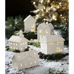 Free Shipping.  Shop White Ceramic Ranch House.  Fill these charming matte white porcelain ceramic houses with a battery-operated tealight and watch them glow cozy and warm.