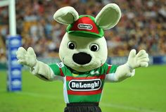 Reggie the Rabbit - South Sydney Rabbitohs' mascot Sports Advertising, Rugby League, Mascot Costumes, Make Your Mark, Winter Olympics, Childrens Party, Sydney, Mickey Mouse, Bunny