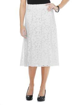 Cato Fashions Lace Panel Modern Midi Skirt - Plus #CatoFashions