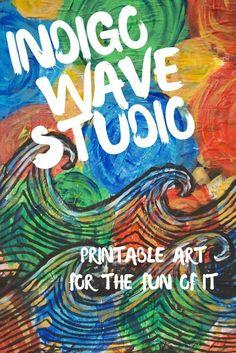 Get art printables on Etsy by Indigo Wave Studio, design, home decor, illustration, painting, digital download