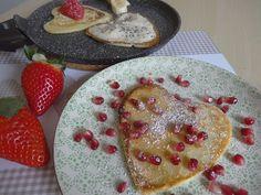 Czary w kuchni- prosto, smacznie, spektakularnie.: Walentynkowe śniadanie Pancakes, Tasty, Lunch, Breakfast, Healthy, Food, Meal, Pancake, Lunches