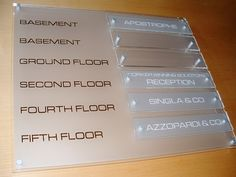 Directory Office wall signs for buildings  Floor Level Signage http://www.de-signage.com/Officesigns.php