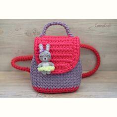 782fac76a1f Οι 76 καλύτερες εικόνες για πλεκτες παιδικές τσάντες | Crochet ...