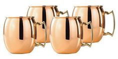 100% Pure Copper Round Plain Moscow Mule Mugs, 24 Pc. Set - Wedding Gift
