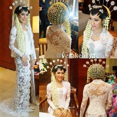 Javanese Wedding-pure white- bride looks great with jasmine headdress