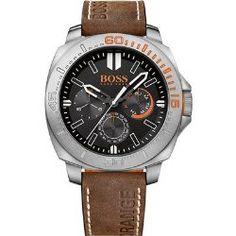 Hugo Boss Orange 1513297 Sao Paulo Men's Watch Brown Leather Strap
