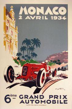 1934 Monaco Grand Prix poster