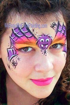 Spider facepainting