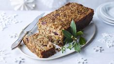 Nut roast is a favourite for a reason. Try this vegan nut roast, which is great served hot for Christmas dinner, or cold for your festive buffet table. For this recipe you will need a loaf tin. Vegan Nut Roast Recipes, Vegetarian Nut Roast, Loaf Recipes, Bbc Good Food Recipes, Savoury Recipes, Vegan Foods, Vegan Meals, Vegan Christmas, Christmas Recipes