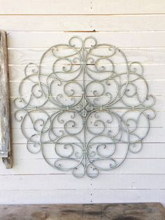 Hand painted Almond Low Shipping only 19.50  Made of metal with a built in wall mount on the back of the item. Makes a lovely home decor addition!  Measuring approximately:  32 Tall 32 Wide 1/2 Depth