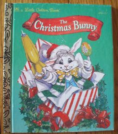 Vintage Little Golden Book  The Christmas Bunny  1966 by katiques