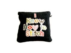 """i know how to stitch"" cushion by ayumi iguchi"