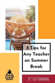 Teachers, you've been waiting all school year for this moment: the beginning of summer break! Now that you finally have some extra time, be sure to make the most of it. The 5 tips presented in this post will help you rest, plan for next year, and tackle those projects that will make life a little easier in the next school year. Check it out now! #itslitteaching #summerbreak English Teachers, Teaching English, When School Starts, Creative Writing Classes, English Resources, First Year Teachers, High School English, Pep Talks, Healthy Living
