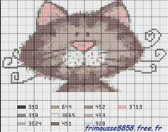 """Résultat de recherche d'images pour """"grilles points de croix jolis chats"""""""