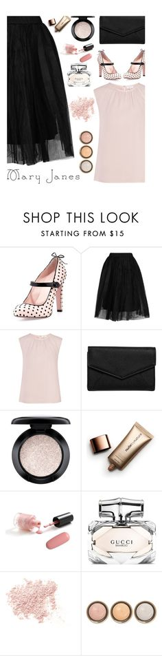 """""""Top Fashion Set 8-9-16"""" by cindycook10 ❤ liked on Polyvore featuring RED Valentino, Topshop, LULUS, MAC Cosmetics, Nude by Nature, Gucci, Bare Escentuals, By Terry and maryjanes"""