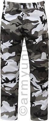 City Camouflage Military BDU Cargo Bottoms Fatigue Trouser Camo Pants