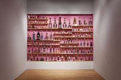 Marc-Antoine K. Phaneuf, Collection de trophées. 2009. Trophies and shelves. 267 x 374 x 20 cm Leonard & Bina Ellen Gallery, Montreal Photo credit: Guy L'Heureux