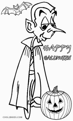 Printable Vampire Coloring Pages For Kids Cool2bKids Holiday